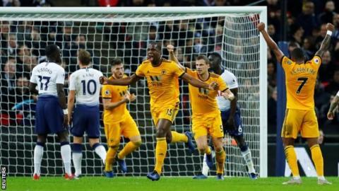 Wolves celebrate goal
