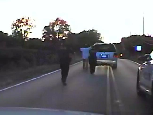Crutcher was taken to the hospital where he was pronounced dead after he was shot by the officer around 8pm local time on Friday September 16. Picture: Tulsa Police Department via AP