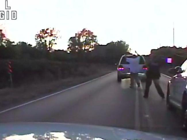Crutcher had no weapon on him or in his SUV, Tulsa Police Chief Chuck Jordan said. Picture: Tulsa Police Department via AP
