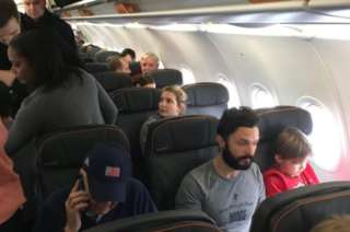 Ivanka Trump on the flight at JFK