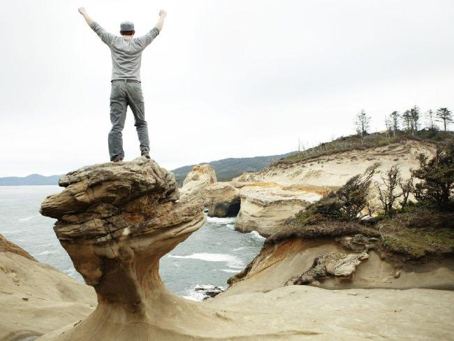 The famous Duckbill rock formation was used for marriage proposals, thousands of social media pictures and was a major attraction at Cape Kiwanda. Picture: Isaac Koval / iStock
