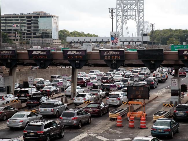 Traffic approaches the George Washington Bridge in Fort Lee, New Jersey. Picture: Drew Angerer/Getty Images/AFP