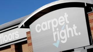 Sign outside Carpetright store
