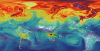 CO2 map