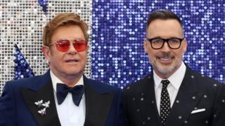 Sir Elton John and his husband, David Furnish