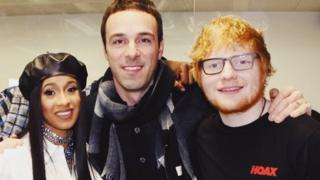 Ben Cook with Cardi B and Ed Sheeran