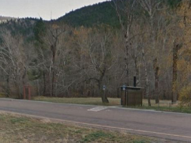 The rest stop in Wolf Creek, Montana where Rita Maze was 'taken'. Picture: Google