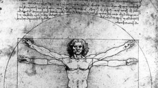Anatomical drawings sketches by Leonardo Da Vinci.