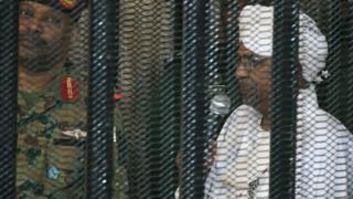Omar al-Bashir in court on Monday